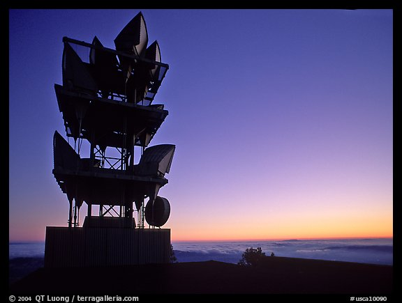 Antennas of communication relay.  Mt Diablo State Park. California, USA (color)