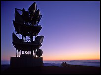 Antennas of communication relay.  Mt Diablo State Park. California, USA ( color)