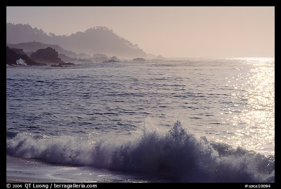Surf on late afternoon. Carmel-by-the-Sea, California, USA (color)