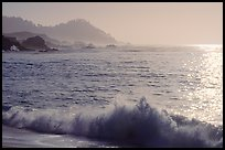 Surf on late afternoon. Carmel-by-the-Sea, California, USA