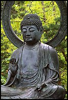 Buddha statue in Japanese Garden. San Francisco, California, USA (color)