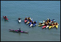 Sea Kayaking class, Pillar Point Harbor. Half Moon Bay, California, USA (color)