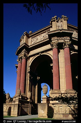 Rotunda of the Palace of Fine Arts, afternoon. San Francisco, California, USA