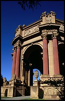 Rotunda of the Palace of Fine Arts, afternoon. San Francisco, California, USA (color)