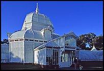 Conservatory of the Flowers, late afternoon. San Francisco, California, USA