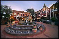 Ghirardelli Square at dusk. San Francisco, California, USA (color)