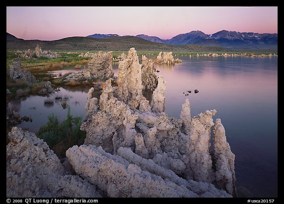 Tufas, South Tufa area,  dawn. Mono Lake, California, USA (color)