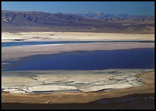 Owens Lake and desert ranges. California, USA (color)