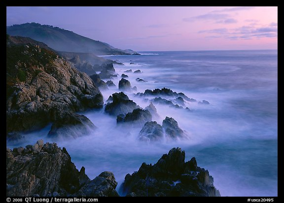 Rocky coastline, Garapata. California, USA (color)
