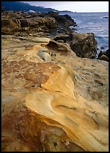 Sculptured coastline, Weston Beach. Point Lobos State Preserve, California, USA (color)