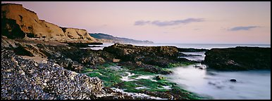 Seashore and cliffs. Point Reyes National Seashore, California, USA (Panoramic color)