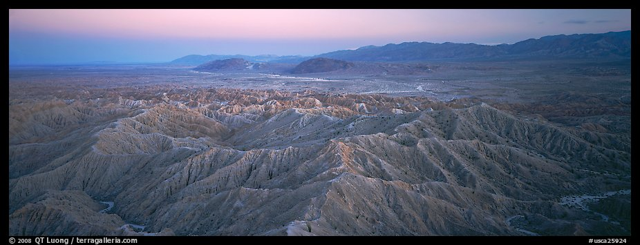 Desert landscape with badlands. Anza Borrego Desert State Park, California, USA (color)