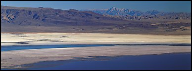 Desert landscape with Owens Lake and mountains. California, USA (Panoramic color)