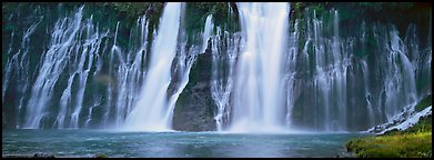 Wide waterfall, Burney Falls State Park. California, USA