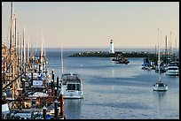 Harbor,  late afternoon. Santa Cruz, California, USA