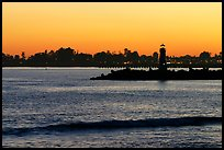 Lighthouse at sunset. Santa Cruz, California, USA (color)