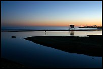 Twin Lakes State Beach, dusk. Santa Cruz, California, USA