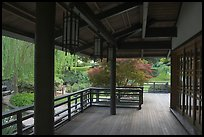 Pavilion in Japanese Friendship Garden. San Jose, California, USA (color)
