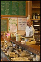 The Cheese Board, famous cheese cooperative. Berkeley, California, USA (color)