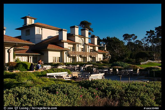 Spanish Bay Inn, Pebble Beach. California, USA (color)