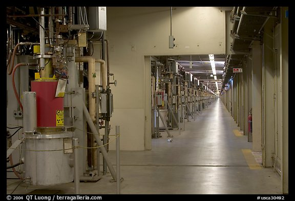 Klystrons, Stanford Linear Accelerator. Stanford University, California, USA (color)