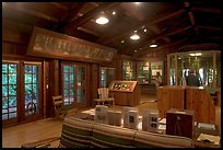 Inside the Sempervirens Visitor Center. Big Basin Redwoods State Park,  California, USA (color)