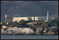 Prison building on Alcatraz Island, late afternoon. San Francisco, California, USA ( color)