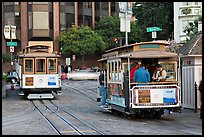 Cable car terminus. San Francisco, California, USA (color)