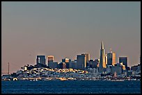 City skyline at sunset. San Francisco, California, USA