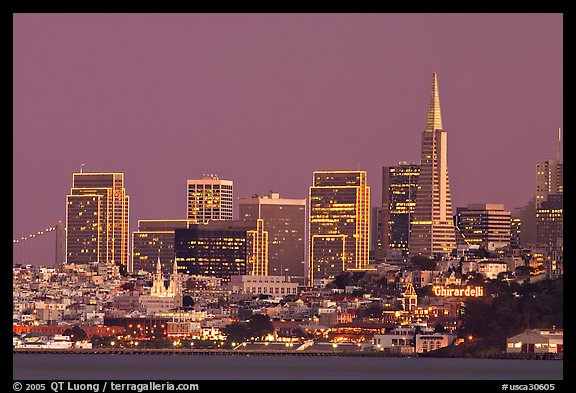 Skyline at dusk. San Francisco, California, USA