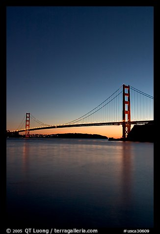 golden gate bridge sunset. Golden Gate Bridge, sunset.