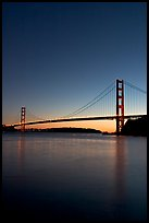 Golden Gate Bridge, sunset. San Francisco, California, USA (color)