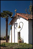 Facade and bell, Mission Nuestra Senora de la Soledad. California, USA (color)