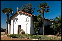 Facade of Mission Nuestra Senora de la Soledad. California, USA (color)