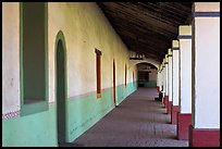 Corridor, Mission San Miguel Arcangel. California, USA (color)