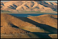Hills in summer and San Luis Reservoir. California, USA (color)