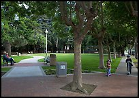 Children and parents, Freemont Park. Menlo Park,  California, USA ( color)