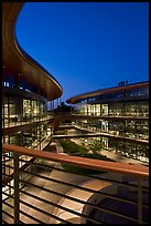 James Clark Center, home to multidisciplinary  program in biology, dusk. Stanford University, California, USA (color)