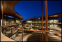 Curves of the James Clark Center, dusk. Stanford University, California, USA ( color)