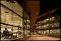 Labs at night, James Clark Center. Stanford University, California, USA (color)
