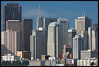 Financial district skyline with MOMA building, afternoon. San Francisco, California, USA