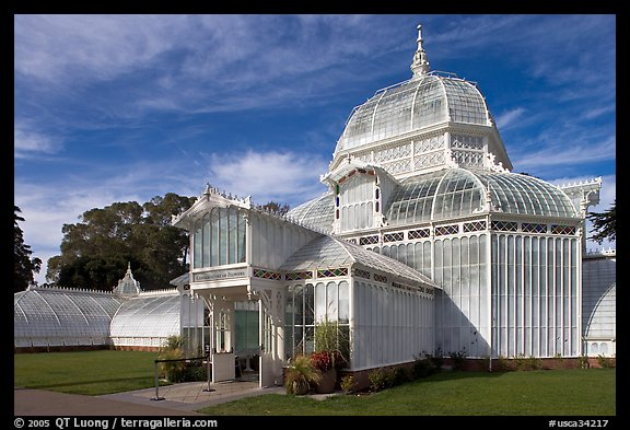 Facade of the renovated Conservatory of Flowers. San Francisco, California, USA