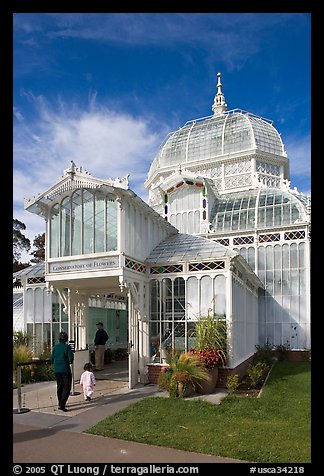 Entrance of the Conservatory of Flowers. San Francisco, California, USA (color)