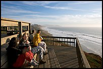 Observation platform at Fort Funston overlooking the Pacific. San Francisco, California, USA