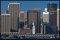Skyline and Ferry Building building. San Francisco, California, USA ( color)