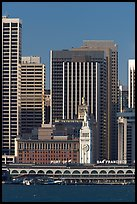 Embarcadero and Ferry Building. San Francisco, California, USA ( color)