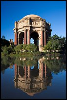 Rotonda of the Palace of Fine Arts, morning. San Francisco, California, USA (color)