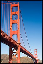 Golden Gate Bridge seen from Fort Point. San Francisco, California, USA (color)