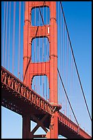 Golden Gate Bridge pillar. San Francisco, California, USA