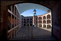 Fort Point courtyard and galleries. San Francisco, California, USA